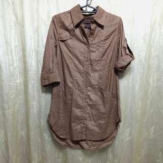 CC 五分袖長版上衣 S