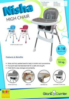 Giant Carrier High Chair Nisha Pink