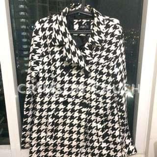 Pre-loved Black and White Coat