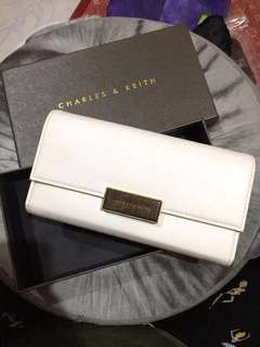 Authentic Charles & Keith white wallet