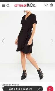 Cotton on Woven Charli Short Sleeve Wrap Dress