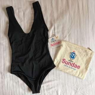 Sundae - Black Swimsuit