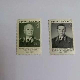 📮77年 歐洲蘇聯各款郵票5個