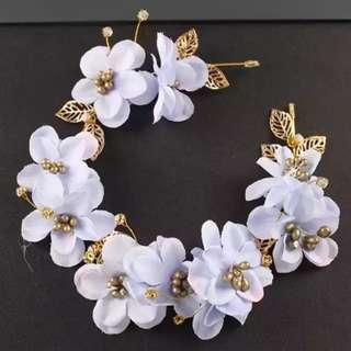 Bridal Hair Accessories -flora hair band for wedding