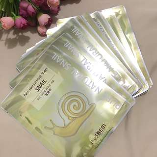 Korean Snail pure natural mask sheet the saem