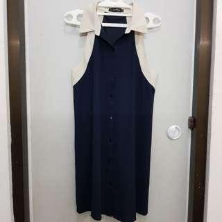 Dress biru donker