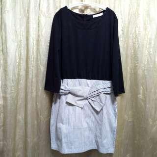 I. MODA 七分袖洋裝飾XL