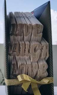 "Book folding art - ""Live. Laugh. Love"""