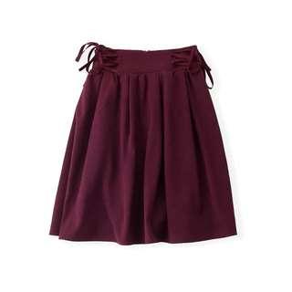日牌系帶半截裙