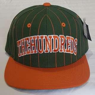 The Hundreds Pins Snapback Cap - Green/Orange