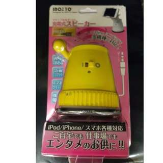 手提電話喇叭連吸盤支架 Mobile Phone speaker with holder Yellow Color 黃色