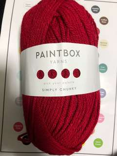 PAINTBOX Yarns (STORMY SCARF KIT) 3 BALLS- 2 BALLS MIDNIGHT BLUE, 1 BALL RED WINE
