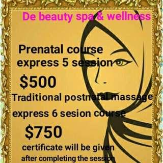 De Beauty Spa & Wellness Prenatal And Traditional Postnatal Massage Course Call Us At 64400460/93817610