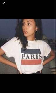 Brandy Melville Paris shirt