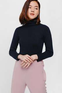 Love Bonito Tishyla Turtle Neck Sweater in Navy Blue S