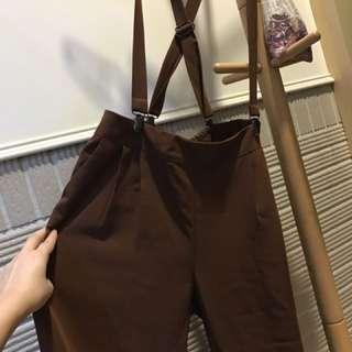吊帶褲 (厚雪紡)吊帶可拆