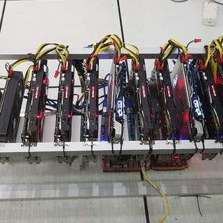 6 x GTX 1070 + 6 x GTX 1070Ti GPU for sale