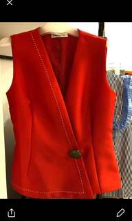Christian Dior red top