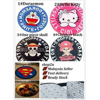Ready stock Round Carpet Rug Floor Mat Doraemon Hello Kitty