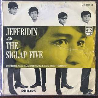 "Jeffridin and The Siglap Five 60's Singapore Malay Psych Garage EP 7"" Record Vinyl"