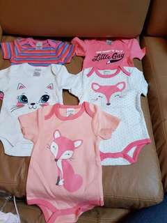 Brand new baby rompers (5 piece)