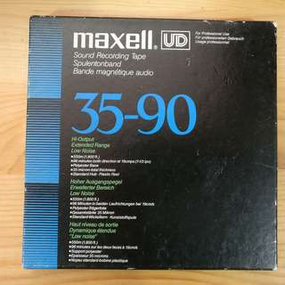 Maxell UD 35-90 Reel-to-Reel Recording Tape 開盤機用錄音帶 日本製造