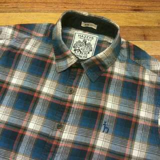 Kemeja HAZZYS Plaid Shirt Lengan Panjang