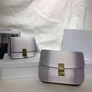 [CELINE] SMALL/MEDIUM CLASSIC BAG IN LIZARD 蜥蝪皮小型/中型CLASSIC手袋