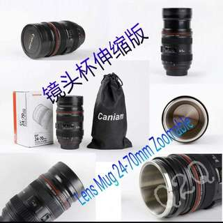 Zoomable camera lens cup