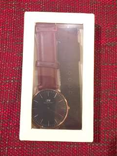 全新Daniel Wellington Rose Gold Black Watch Set 40mm