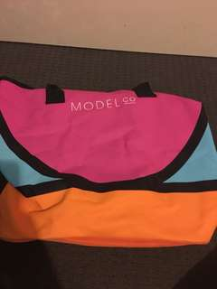Model co beach tote bag