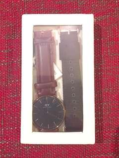 全新Daniel Wellington Rose Gold Black Watch Set 36mm