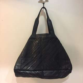 100%全新NEW英國高級大牌ANGEL JACKSON 真皮超型格羊皮蛇紋大袋Genuine leather Bag