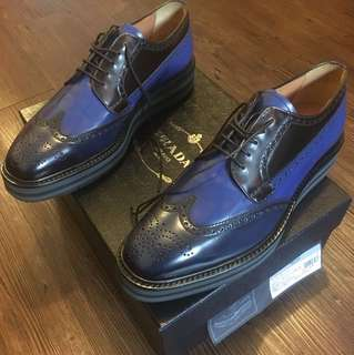 Prada limited mixed color-leather shoe