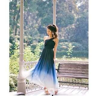 BNWOT Ombre Maxi Dress