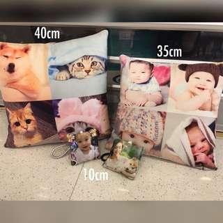 推薦*(已訂製過千隻)DIY人形抱枕訂製 紀念日 生日禮物 寵物公仔 人形攬枕 動物Cushion 結婚公仔 卡通咕𠱸