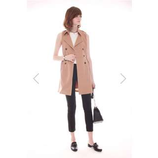 ACW Trench Coat Belted Dress In Khaki