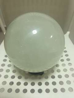 Heavy crystal ball due to offer