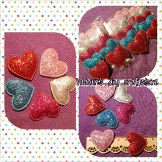 Soft Appliques/Embellishments: Glitter Hearts Series (model GH01)
