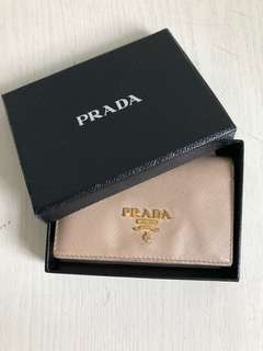 Prada Champagne card holder
