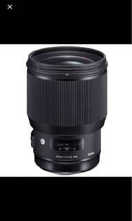 Sigma art 85mm f1.4 for NIKON + warranty