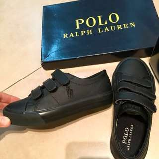 NEW KIDS Polo Ralph Lauren black shoes sz11 (US) . Bottom of sole measures 19cm. Non-nego