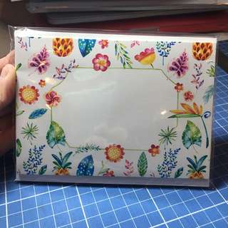 Tropical Watercolor Notecards 8pcs matte