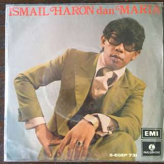 "Ismail Haron dan Maria (1972) Singapore Malay Psych Pop EP 7"" Record Vinyl"