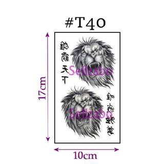 ★Lions Heads Fake Temporary Body Tattoos Stickers Sellzabo Black Colour Fierce Animals #T40