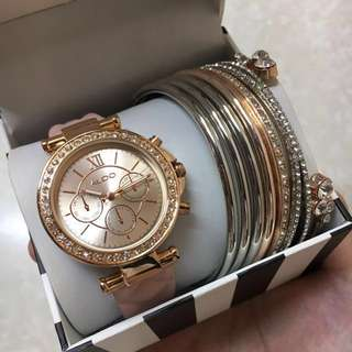 ALDO Rosegold Watch and Bangles Set