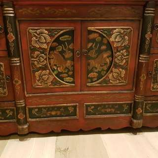 Gorgeous Antique Tibetan Cabinet