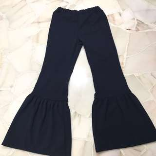 Khadijah Bell Bottom Flare Pants in Navy Blue