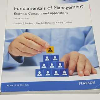 Pearson Fundamental of Mgt 9th edition