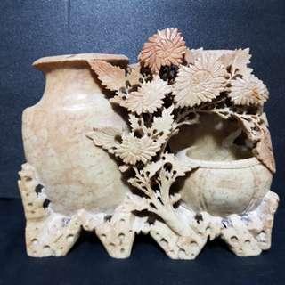 老件寿山石雕。Vintage Shoushan Stone Carving